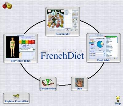 Pantallazo French Diet English