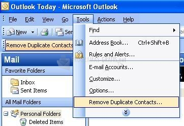 Pantallazo Remove Duplicate Contacts