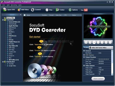 Pantallazo SocuSoft DVD Converter Pro