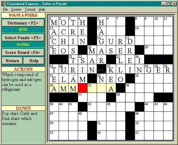Pantallazo Crossword Express