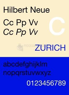 Pantallazo Hilbert Neue Fonts