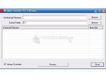 Pantallazo WinMail Decoder Pro