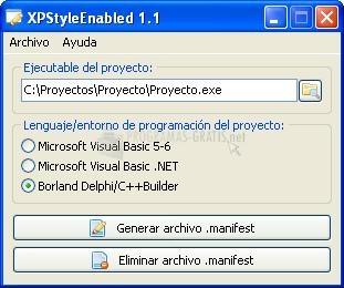 Pantallazo XP Style Enabled