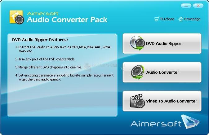 Pantallazo Aimersoft Audio Converter Pack
