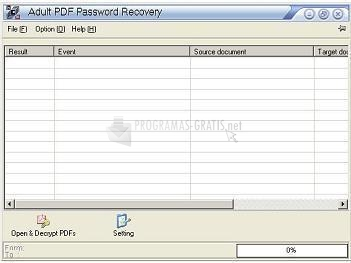 Pantallazo AP PDF Password Recovery