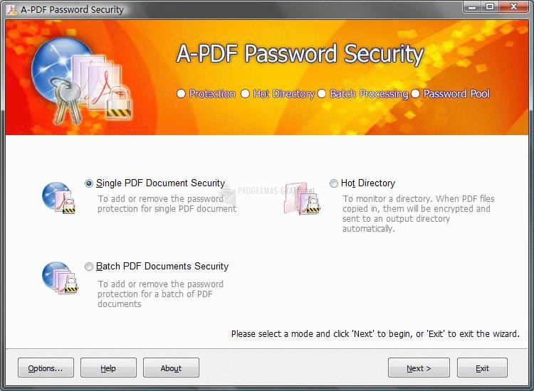 Pantallazo A-PDF Password Security