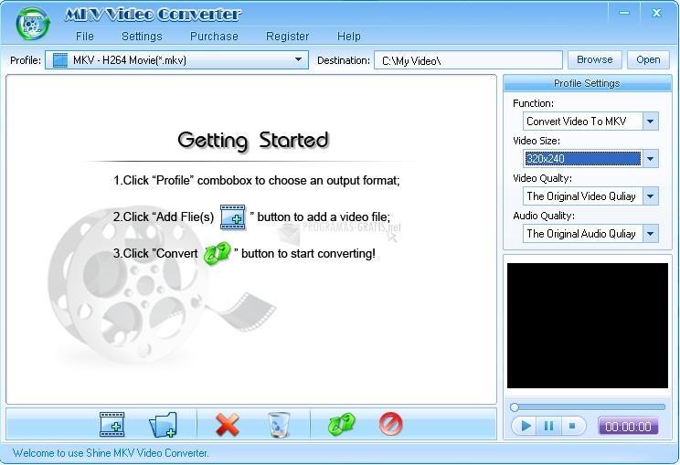 Pantallazo Shine MKV Video Converter