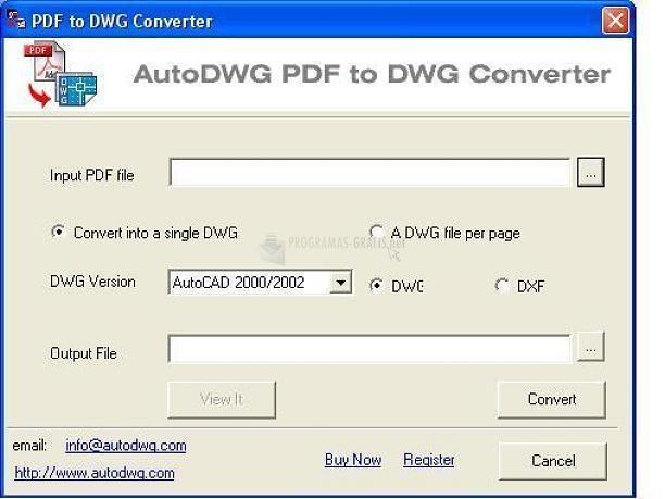 Pantallazo Autodwg PDF to DWG Converter