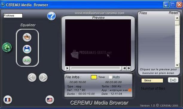 Captura Ceremu Media Browser