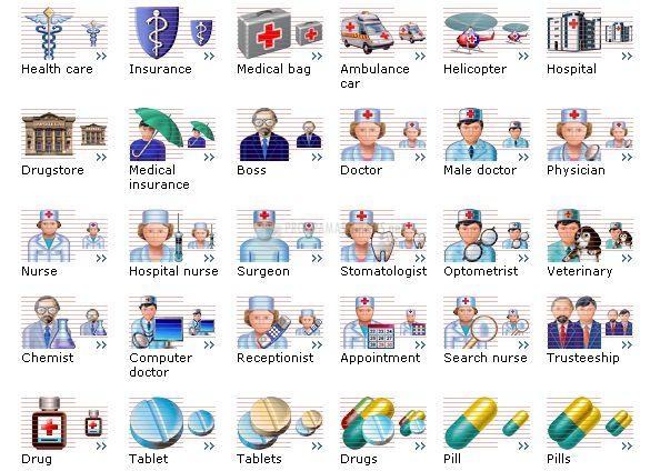 Pantallazo Health Care Icons