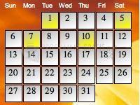 Pantallazo Coffeecup Web Calendar