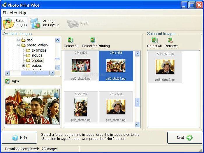 Pantallazo Photo Print Pilot