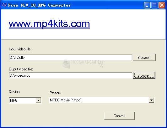 Pantallazo Free FLV to MPG Converter
