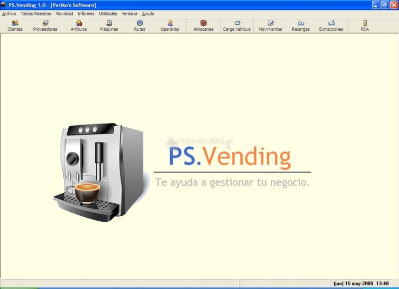 Pantallazo PS.Vending