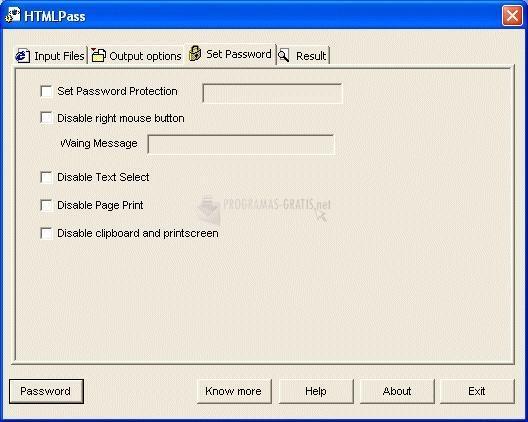Pantallazo HTMLPass