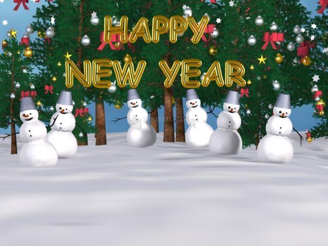 Pantallazo Snowman New Year