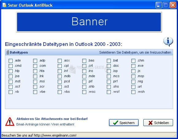 Pantallazo Outlook Antiblock