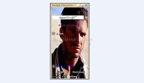 Pantallazo Ralph Fiennes ICQ Skin