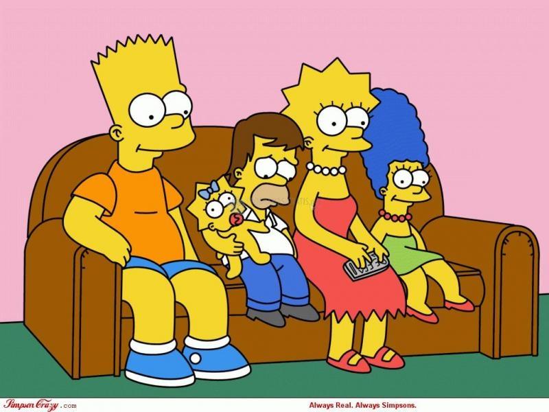 Pantallazo Simpsons al revés