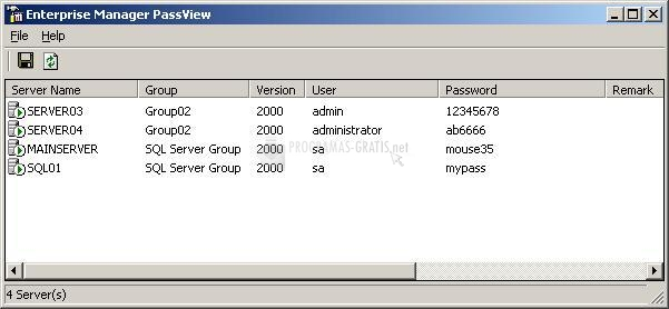 Pantallazo Enterprise Manager PassView