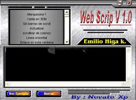 Pantallazo Web Scrip