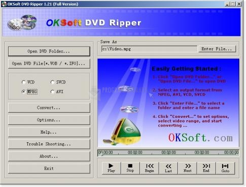 Pantallazo OKSoft DVD Ripper