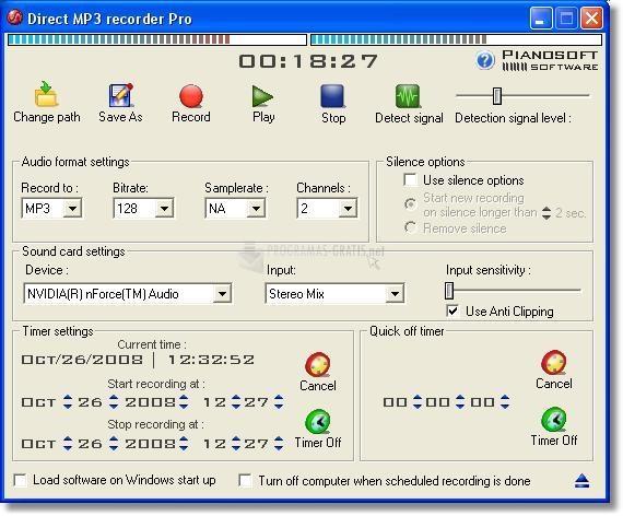 Pantallazo Direct MP3 Recorder