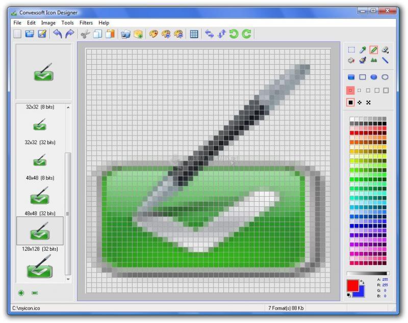 Pantallazo Convexsoft Icon Designer