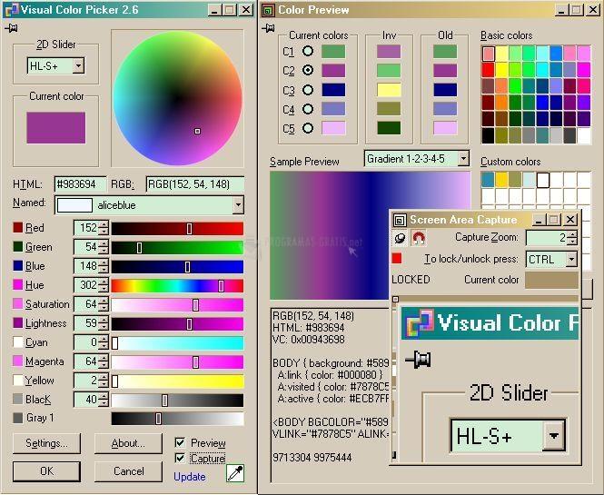 Pantallazo Visual Color Picker