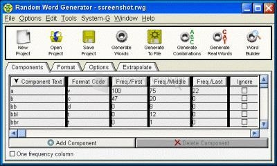 Pantallazo Random Word Generator