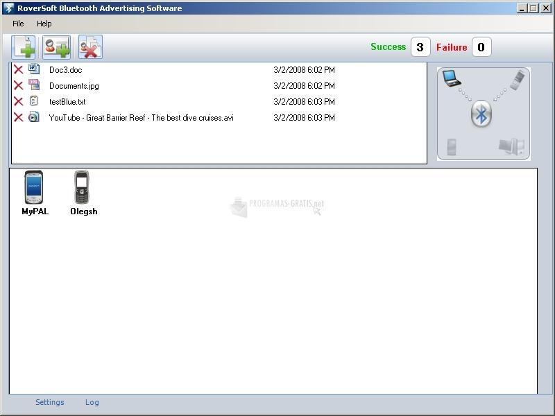Pantallazo Bluetooth Advertising software