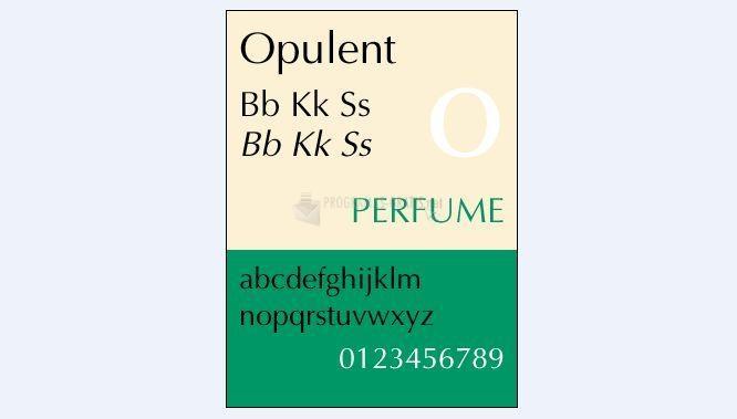 Pantallazo Opulent Fonts