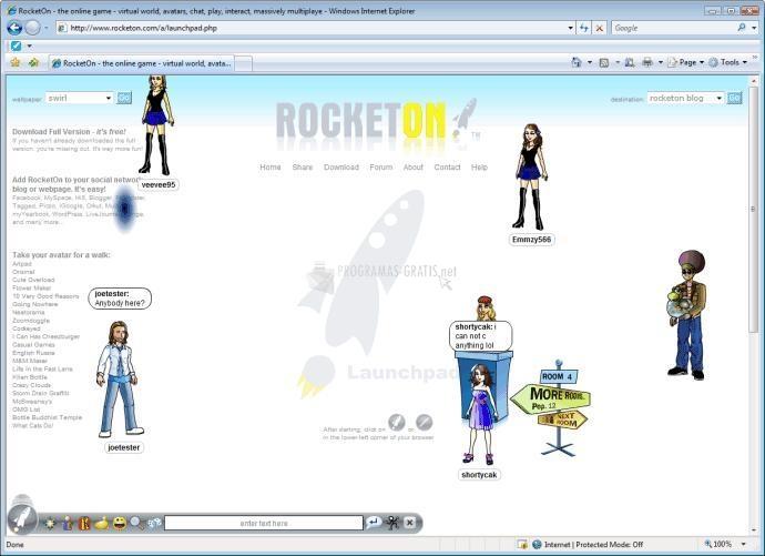 Pantallazo RocketOn
