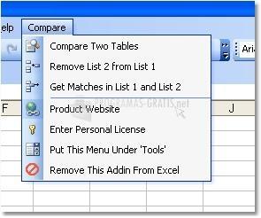 Pantallazo Excel Compare
