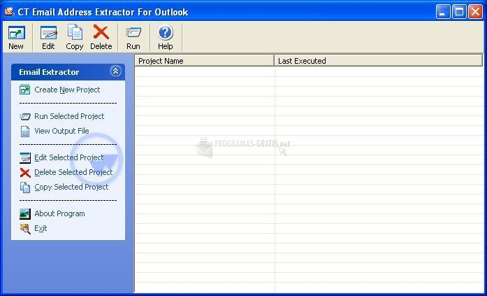 Pantallazo CT Email Address Extractor