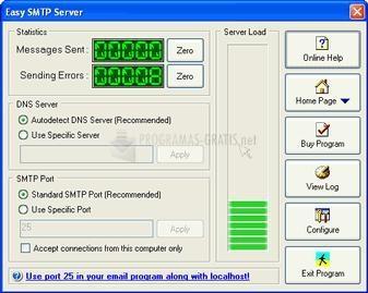 Pantallazo Easy SMTP Server