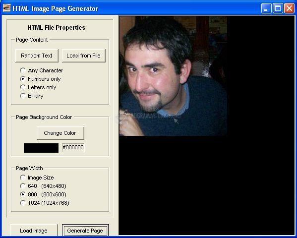 Pantallazo HTML Image Page Builder