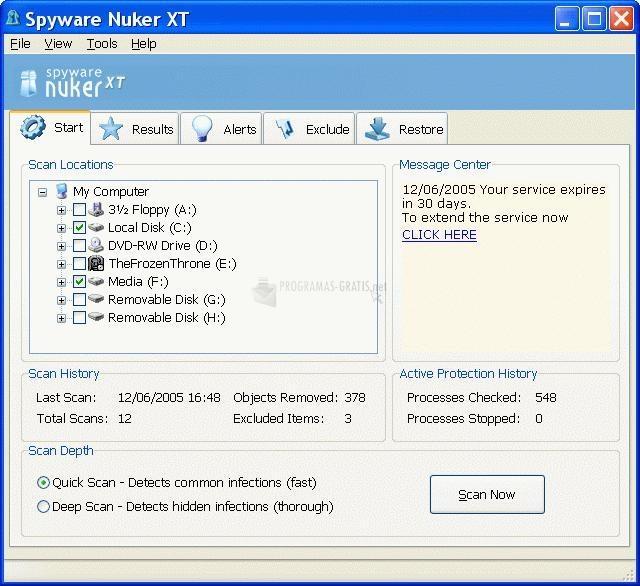 Pantallazo Spyware Nuker XT