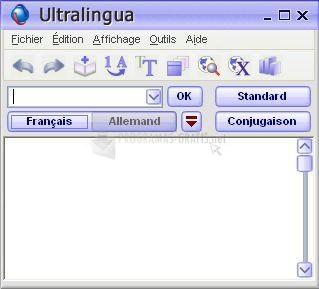 Pantallazo Ultralingua French-German Dictionary