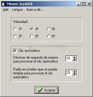 Pantallazo Mouse Joystick
