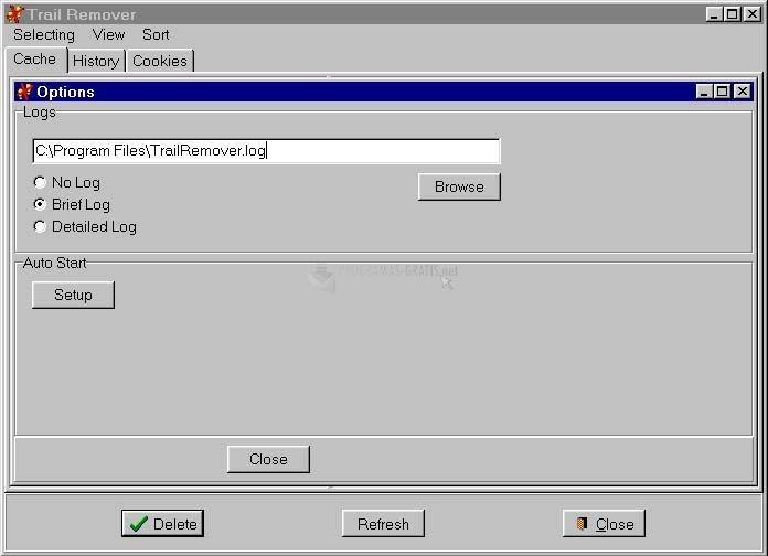 Pantallazo Internet Trail Remover