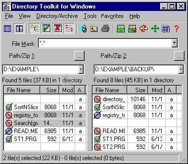 Pantallazo Directory Toolkit