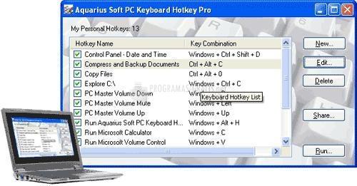 Pantallazo PC Keyboard Hotkey Professional