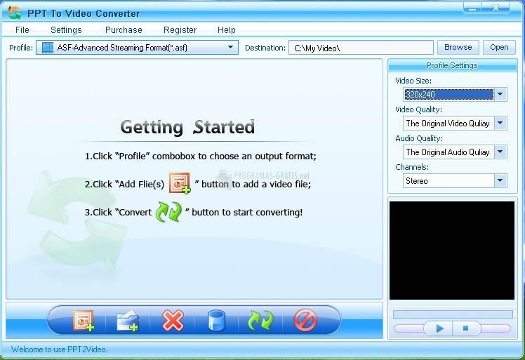 Pantallazo PPT to Video Converter