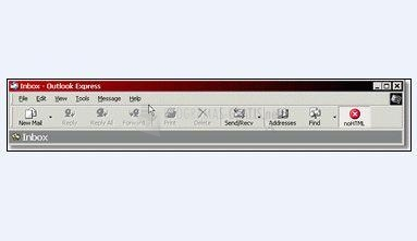 Pantallazo noHTML for Outlook Express