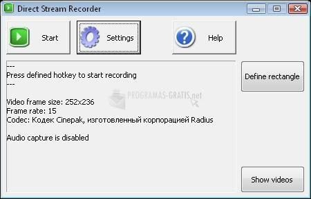 Pantallazo Direct Stream Recorder