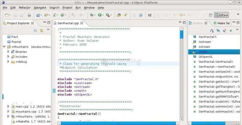 Pantallazo Eclipse IDE for C/C   Developers