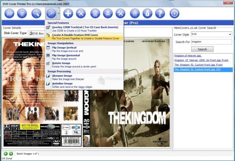 Pantallazo DVD Cover Printer