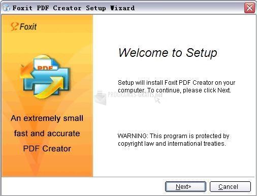 Pantallazo Foxit PDF Creator