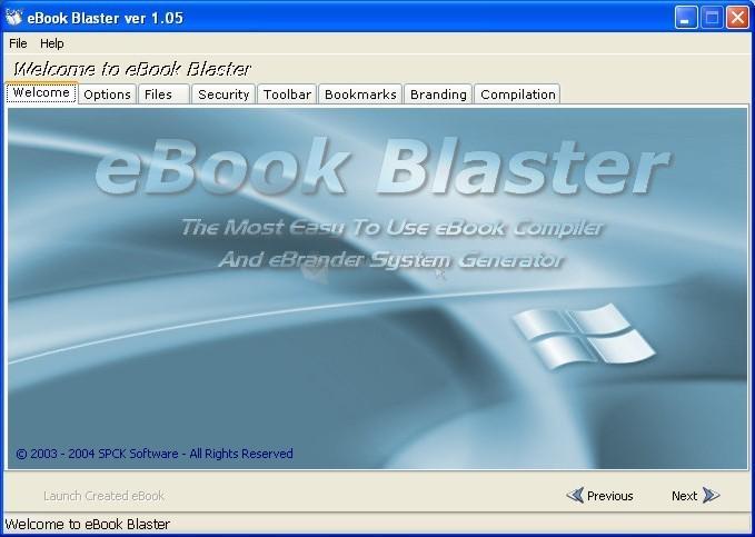 Pantallazo eBook Blaster